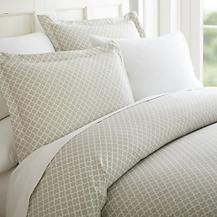Quartefoil 3-Piece Twin/Twin XL Duvet Cover Set, Gray, large