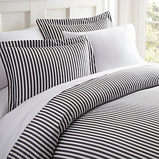 Ribbon Patterned 3-Piece Twin/Twin XL Duvet Cover Set, Gray, large