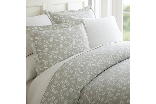 Wheatfield 3-Piece Twin/Twin XL Duvet Cover Set, Gray, large