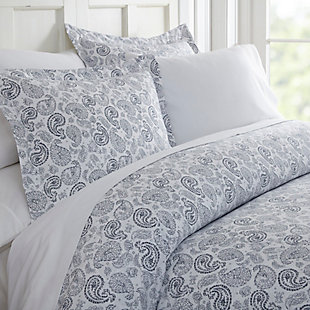 Paisley 3-Piece Twin/Twin XL Duvet Cover Set, Navy, large