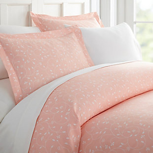 Flower Bud Patterned 3-Piece Twin/Twin XL Duvet Cover Set, Pink, large