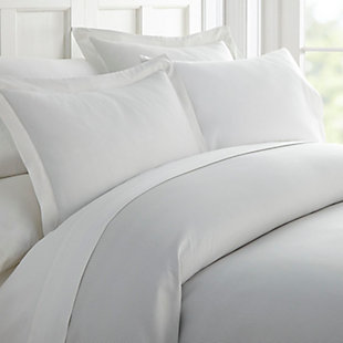 Pinstriped 3-Piece Twin/Twin XL Duvet Cover Set, Light Gray, large