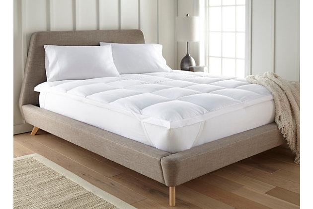 Ultra Plush Luxury Twin Mattress Pad, White, large