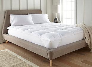 Ultra Plush Luxury Twin Mattress Pad, White, rollover