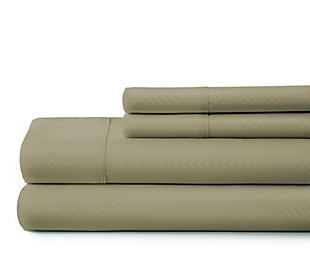 Chevron 4-Piece Twin Sheet Set, Sage, large