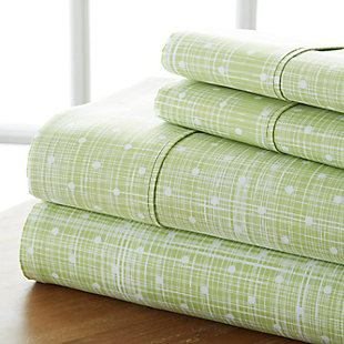 Polka Dot 4-Piece Twin Sheet Set, Moss, large