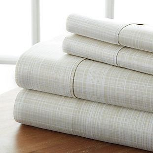 Thatch Patterned 4-Piece Twin Sheet Set, Ray, large