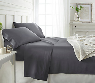 Bamboo 4-Piece Twin Sheet Set, Gray, large