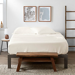 Bamboo 4-Piece Twin Sheet Set, Ivory, rollover