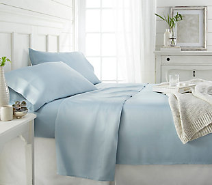 Bamboo 4-Piece Twin Sheet Set, Light Blue, large