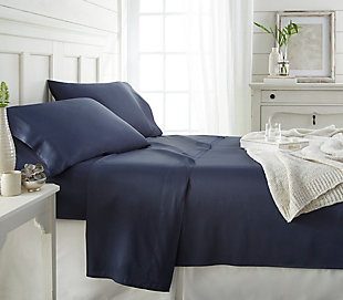 Bamboo 4-Piece Twin Sheet Set, Navy, rollover