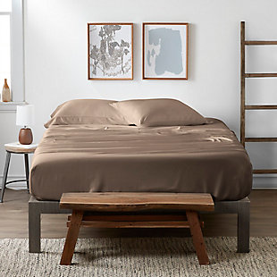 Bamboo 4-Piece Twin Sheet Set, Taupe, large