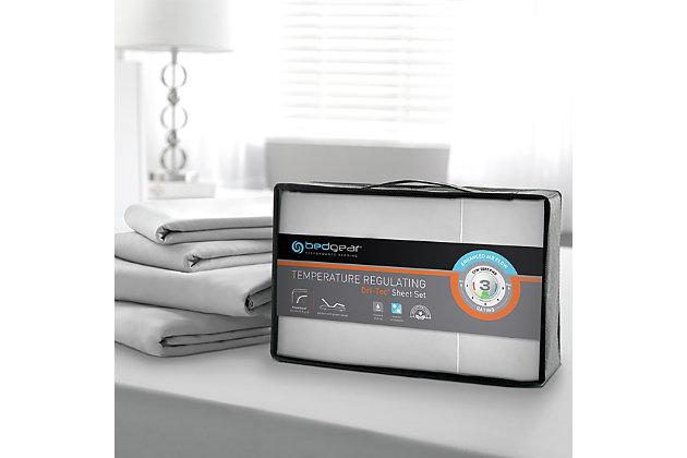 Bedgear Dri-Tec® Twin Sheet Set, White, large
