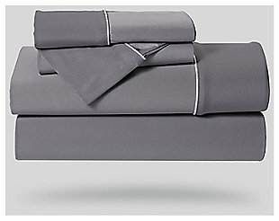 Bedgear Dri-Tec® Twin Sheet Set, Gray, large