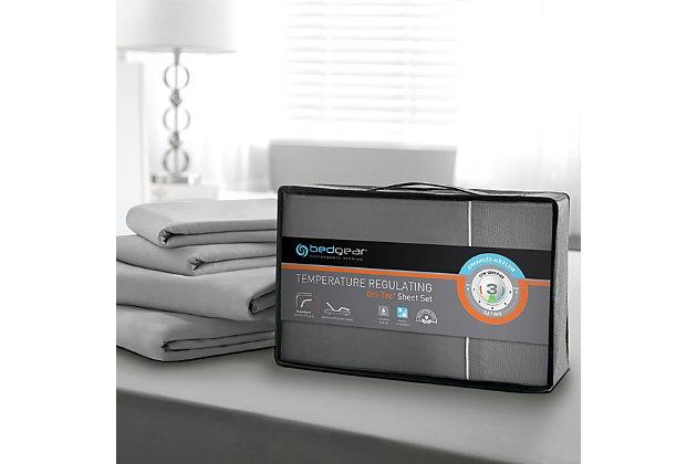 Bedgear Dri-Tec® Full Sheet Set, Gray, large