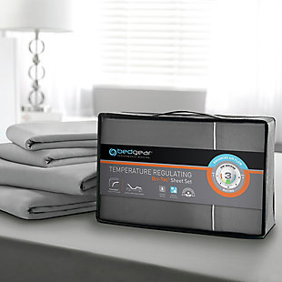 Bedgear Dri-Tec® Queen Sheet Set, Gray, large