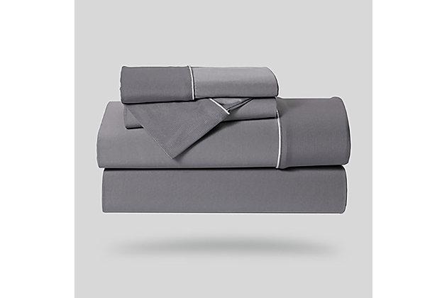 Bedgear Dri-Tec® King Sheet Set, Gray, large