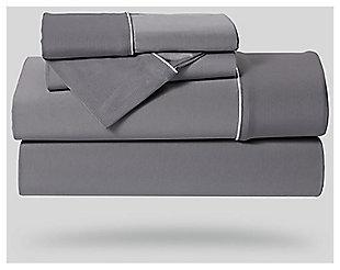 Bedgear Dri-Tec® Split Cal King Sheet Set, Gray, large