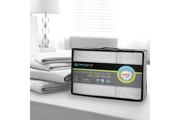 Bedgear Hyper-Cotton™ Full Sheet Set, White, large