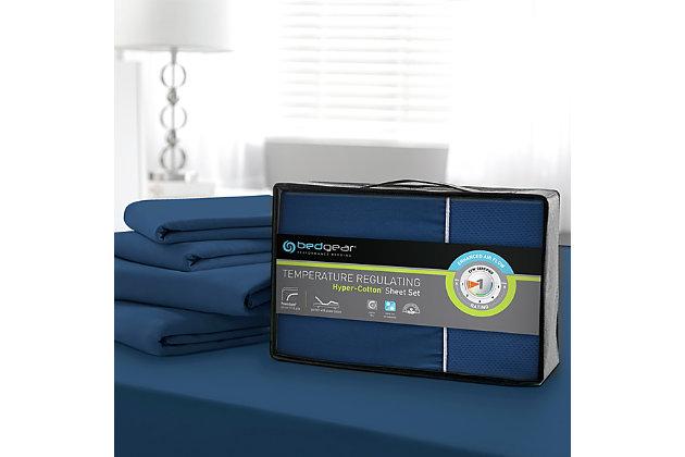 Bedgear Hyper-Cotton™ Twin Sheet Set, Navy, large