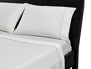 Bedgear Basic® Twin Sheet Set, White, rollover