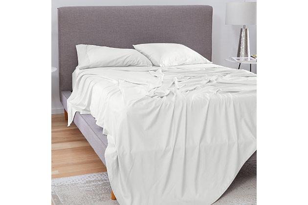 Bedgear Basic® Twin Sheet Set, White, large