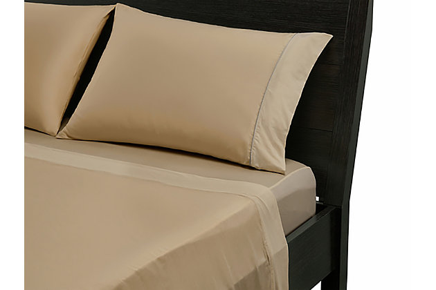 Bedgear Basic® Twin Sheet Set, Sand, large