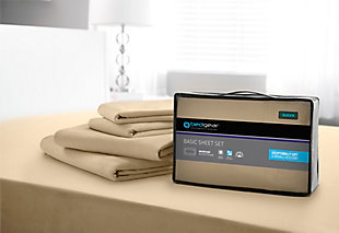 Bedgear Basic® Twin Sheet Set, Sand, large