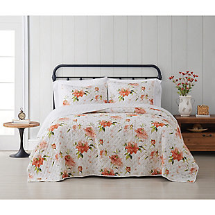 Cottage Classics Veronica 2 Piece Twin/Twin XL Quilt Set, Ivory, rollover