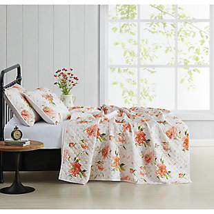 Cottage Classics Veronica 2 Piece Twin/Twin XL Quilt Set, Ivory, large
