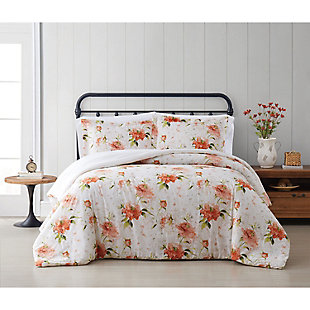 Cottage Classics Veronica 2 Piece Twin/Twin XL Comforter Set, Ivory, rollover
