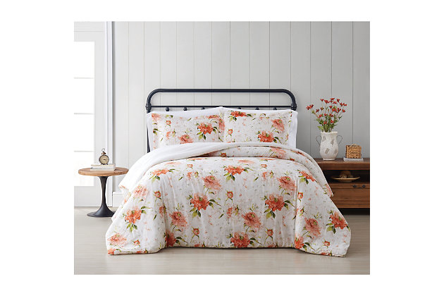 Cottage Classics Veronica 2 Piece Twin/Twin XL Comforter Set, Ivory, large