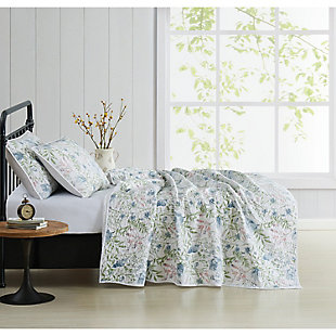 Cottage Classics Field Floral 2 Piece Twin/Twin XL Quilt Set, Blue, large