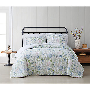 Cottage Classics Field Floral 2 Piece Twin/Twin XL Comforter Set, Blue, rollover