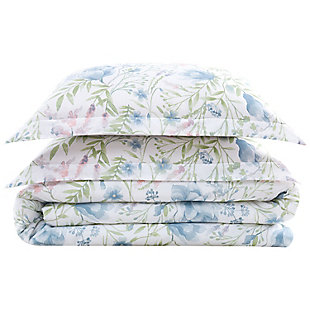 Cottage Classics Field Floral 2 Piece Twin/Twin XL Comforter Set, Blue, large