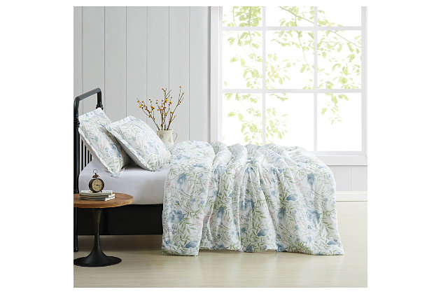 Cottage Classics Field Floral 2 Piece Twin/Twin XL Comforter Set, Blue, large