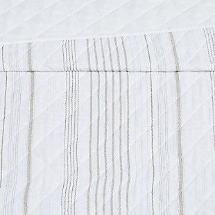 Cottage Classics Warm Hearth Stripe 2 Piece Twin XL Quilt Set, Tan, large