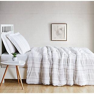 Cottage Classics Warm Hearth Stripe 2 Piece Twin XL Comforter Set, Tan, large