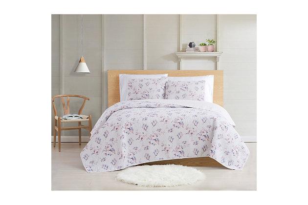 Cottage Classics Rose Dusk 2 Piece Twin XL Quilt Set, Pink, large