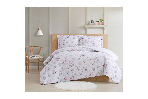 Cottage Classics Rose Dusk 2 Piece Twin XL Comforter Set, Pink, large