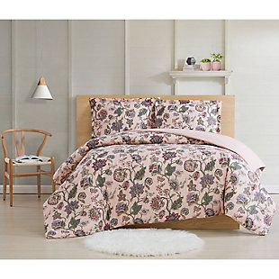 Cottage Classics Ridgefield 2 Piece Twin XL Comforter, Pink, rollover