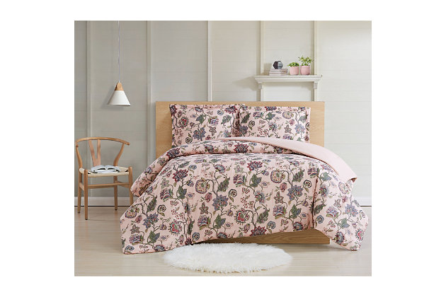 Cottage Classics Ridgefield 2 Piece Twin XL Comforter, Pink, large
