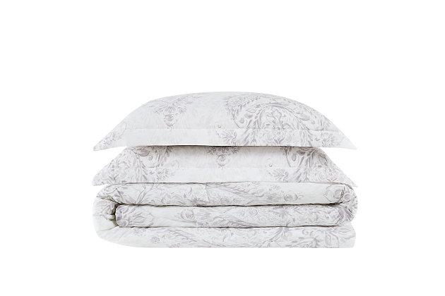 Cottage Classics Paisley Blossom 2 Piece Twin XL Comforter Set, Purple, large