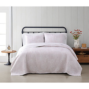 Cottage Classics Spring Bloom 2 Piece Twin/Twin XL Quilt Set, Pink, rollover