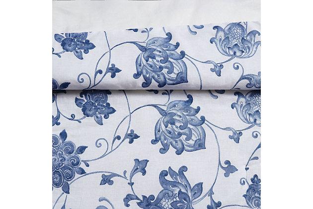 Cottage Classics Estate Bloom 2 Piece Twin XL Comforter Set, Blue, large