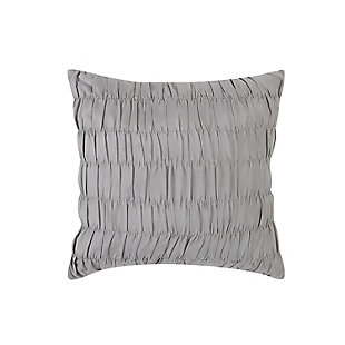 Style 212 Grace Seersucker 4 Piece Twin XL Comforter Set, White/Gray, large