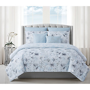 Style 212 Ava 7 Piece Queen Comforter Set, Light Blue, rollover
