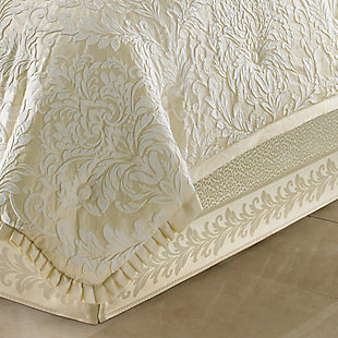 J. Queen New York Marquis Queen 4 Piece Comforter Set, Ivory, rollover