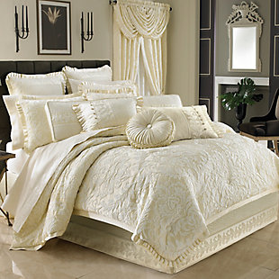 J. Queen New York Marquis Queen 4 Piece Comforter Set, Ivory, large