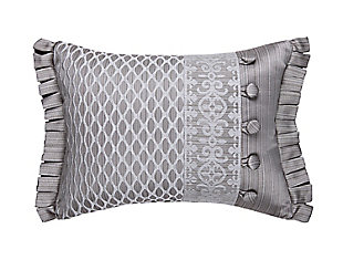 J. Queen New York Luxembourg Silver BoudoirDecorative Throw Pillow, , large